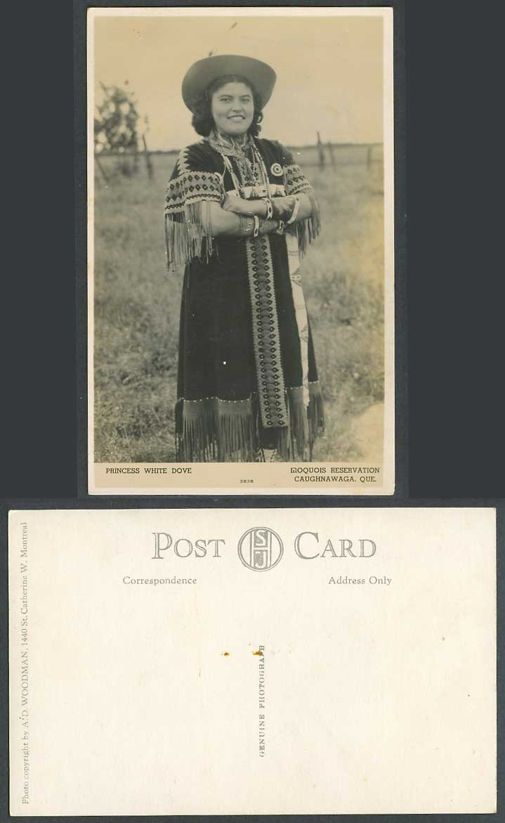 Canada Indian Princess White Dove, Iroquois Reservation Caughnawaga Old Postcard
