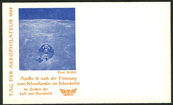 Germany 1969 NASA Phot Apollo 12 FISA Flight Card Space