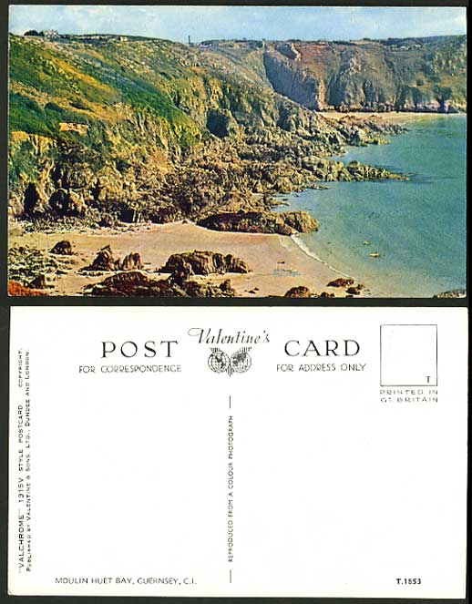 Guernsey Channel Islands Old PPC Beach Moulin Huet Bay
