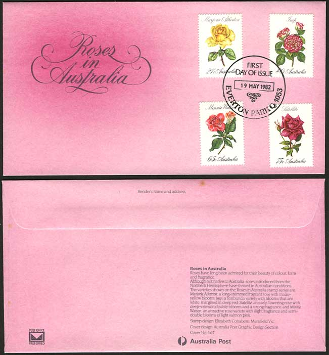 Australia Flowers Roses Carnation 1982 First Day Cover