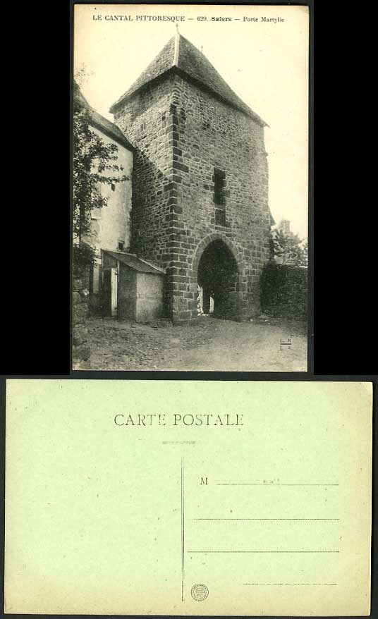 France old postcard le cantal pittoresque salers porte for Porte in french