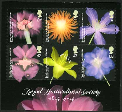 Royal Horticultural Society Flowers U/M Miniature Sheet Flower Stamps