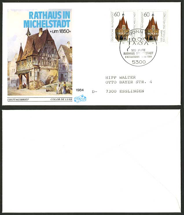 Germany 1984 Rathaus Michelstadt am1850 First Day Cover