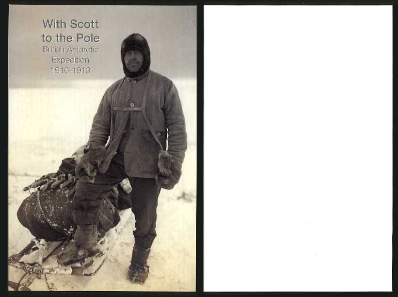 British Antarctic Expedition 1910-1913 Card With Robert Scott to the Pole Sledge